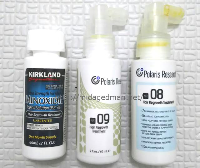 3種類の育毛剤